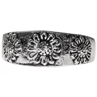 Fußring als Sonnenblume aus Silber