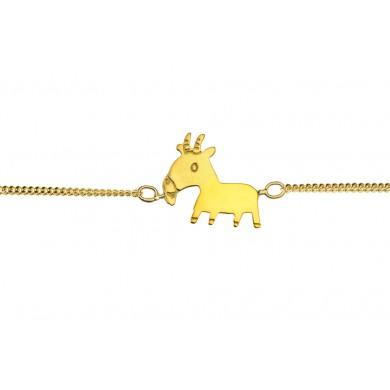 Stier Schmuck als Armband in Gold für Kinder von Claire Naa aus Paris