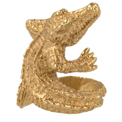 Alligator Schmuck in Gold