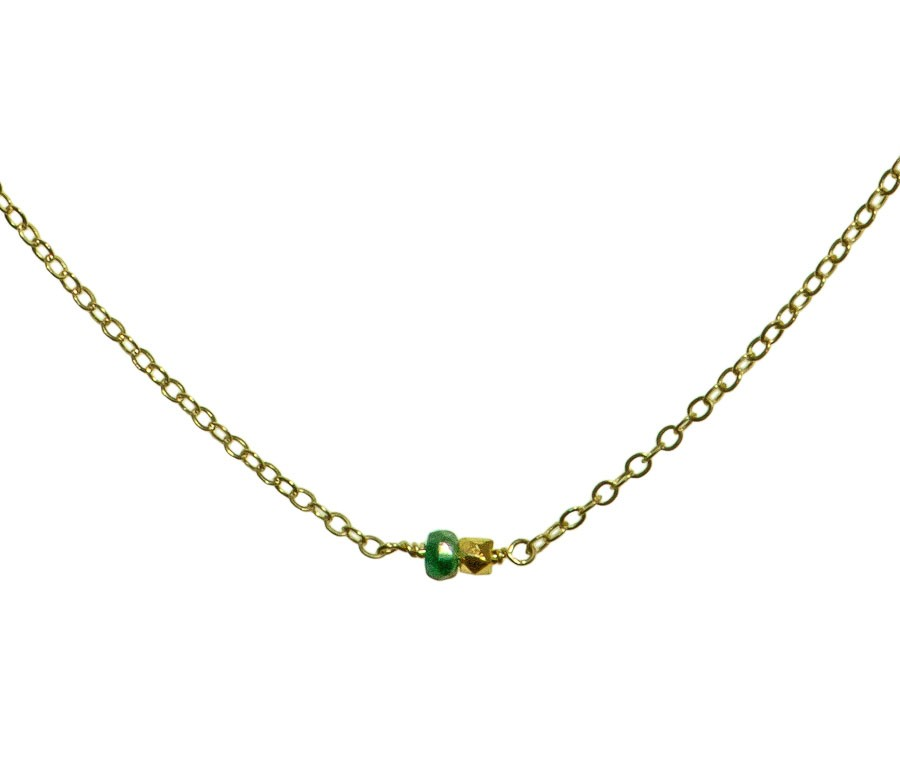 Smaragd schmuck  Catherine Weitzman Mini Smaragd Halskette Designerschmuck online ...