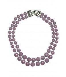 Violette Halskette von Appartement á Louer mit Glaskugeln