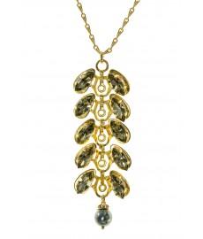 Aris Geldis Halskette in Gold mit Swarovski Steinen