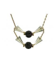 Aris Geldis Halskette mit Brombeer Kristallen von Swarovski