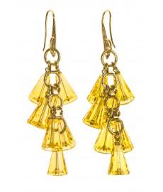 Aris Geldis Ohrringe mit gelben Swarovski Kristallen