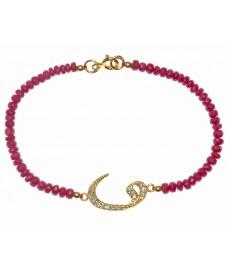 Armband mit roten Steinen von Augustkinder