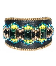 Leder Armband von Buba London mit Steinen