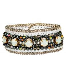 Weißes Armband von Buba London aus Leder
