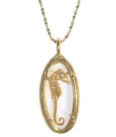 Seepferdchen als Anhänger mit Halskette von Catherine Weitzman