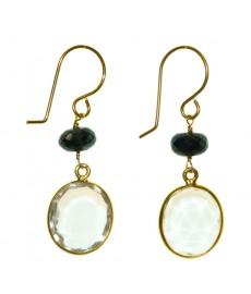 Ohrringe von Catherine Weitzman mit Bergkristall