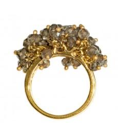 Ring aus Gold mit braunen Rauchquarz von Catherine Weitzman