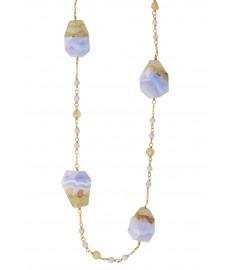 Chan Luu Halskette mit Quarz Steinen in Lang