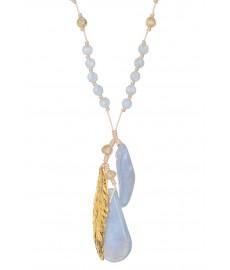 Designer Halskette von Chan Luu mit Edelsteinen