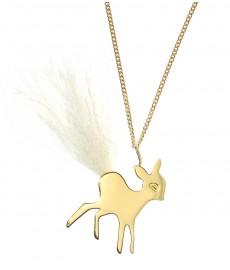 Bambi Anhaenger aus Gold mit Kette von Claire Naa