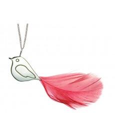 Silber-Vogel Halskette