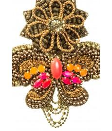 Anhaenger von Deepa Gurnani mit orangen Steinen