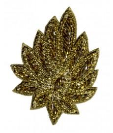 Haarspange Blattgold
