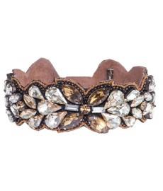 Deepa Gurnani Armband mit glaenzenden Strass-Steinen