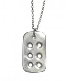 Delphes Paris Halskette aus Silber mit Domino-Stein
