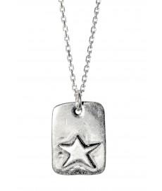 Che Guevara Stern als Anhaengerkette in Silber von Delphes Paris