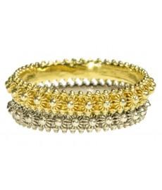 Zweiheit Ringe mit Gold und silber
