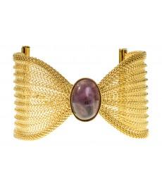 Eva Krystal Armband mit Amethyst Edelstein in Gold