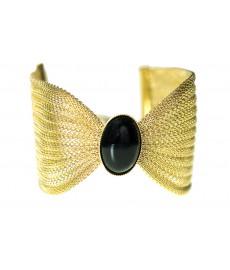 Eva Krystal Onyx Armband mit Schwarz und Gold