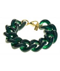 Eva Krystal Armband in Grün mit Gold