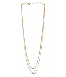 Kurze Halskette mit Silber Gelbgold und Roségold