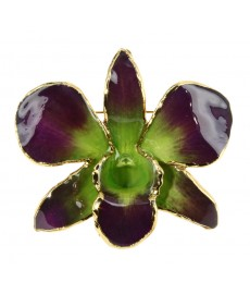 Franco Lipparini Brosche mit Orchidee Blumen