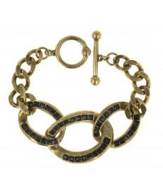 Jean Paul Gaultier Armband mit schwarzen Steinen