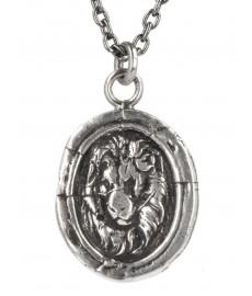 Pyrrha Lion Head Talisman Kette als Herrenschmuck