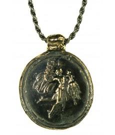 Hermes Anhänger von Pyrrha mit Kette aus Silber und Bronze
