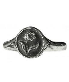 Modeschmuck als Ring mit Rose in Silber von Pyrrha