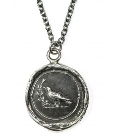 Vogel als Anhaenger in Silber von Pyrrha