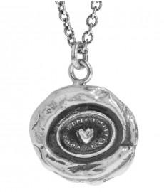 Heart Print Talisman von Pyrrha mit Kette aus Silber