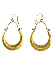 Vergoldete Ohrringe als Stecker von Satya