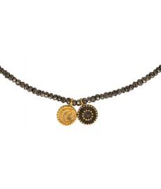 Sun and Moon Halskette von Satya in Gold