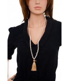 Satya Perlenkette in Lang