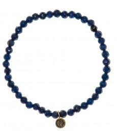 Armband mit blauen Quarzit Steinen von Satya