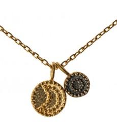 Halskette mit Sonne und Mond Anhänger von Satya