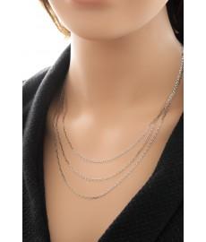 Kurze Minimalistics Halskette Silber