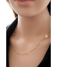 Madonna Halskette Gelbgold