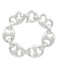 massives Silber Armband von Guiot de Bourg aus Paris