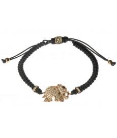 Armband mit Elefanten in schwarz von Augustkinder