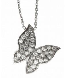Schmetterling Halskette aus Silber von Augustkinder