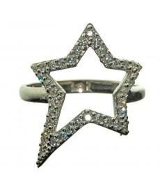 Ring aus Sterlingsilber mit Stern von Augustkinder