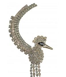 Vittorio Ceccoli Mono Ohrring in Grau und Silber