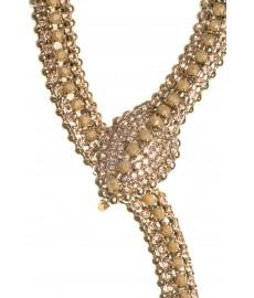 Vittorio Ceccoli Halskette mit Schlange in Champagner und Gold