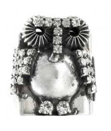Eule als Ring in Silber von Cittorio Ceccoli