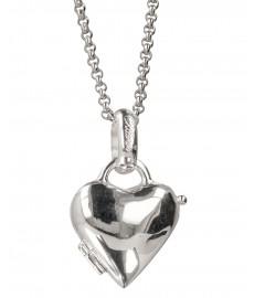 Silber Herz von Chilango als Anhaenger in Silber